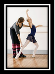 Ballroom Dancing and Ballet in Long Island | Silva Dance studios Ballet Dancer with Instructor
